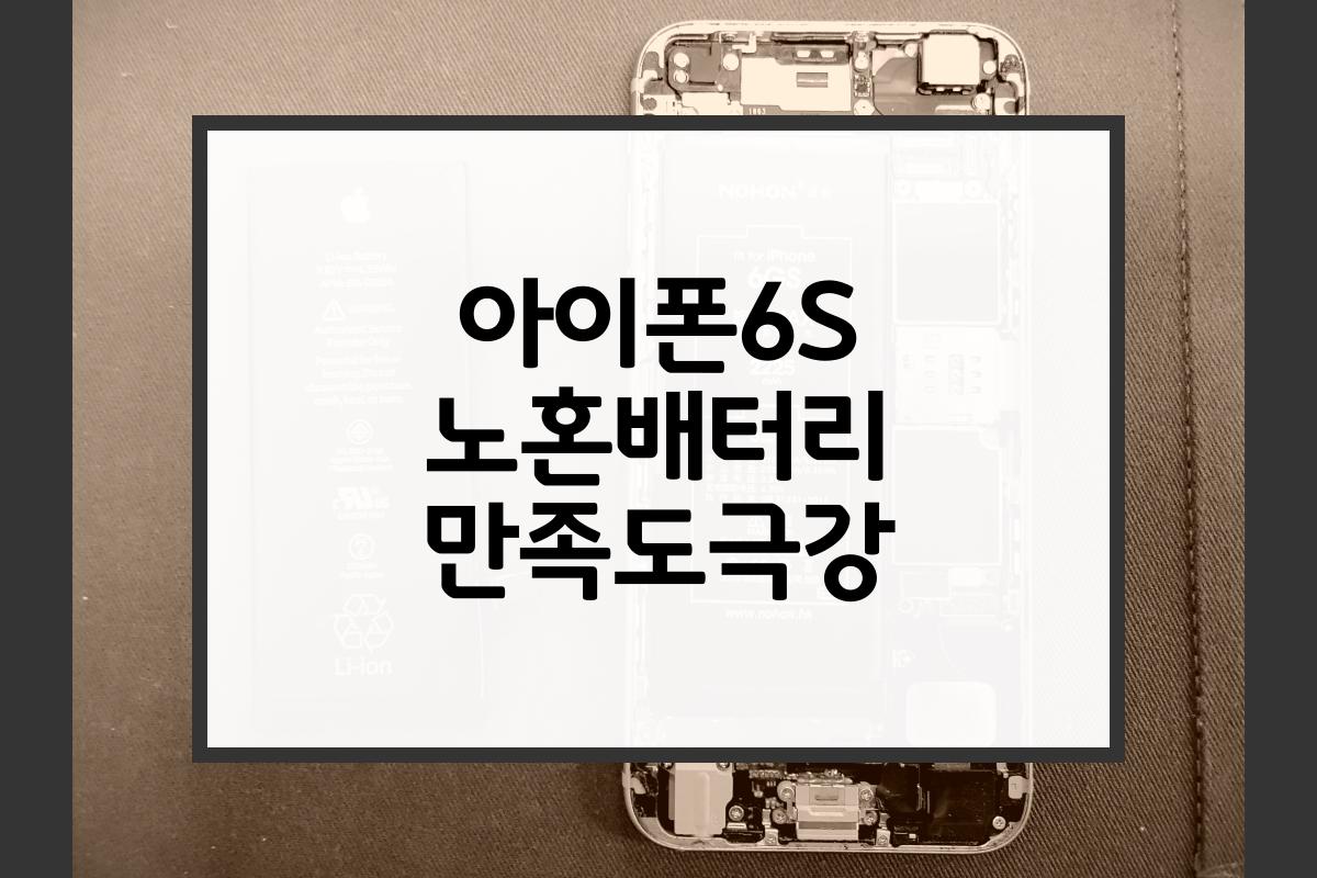 아이폰6S 노혼배터리 만족도극강