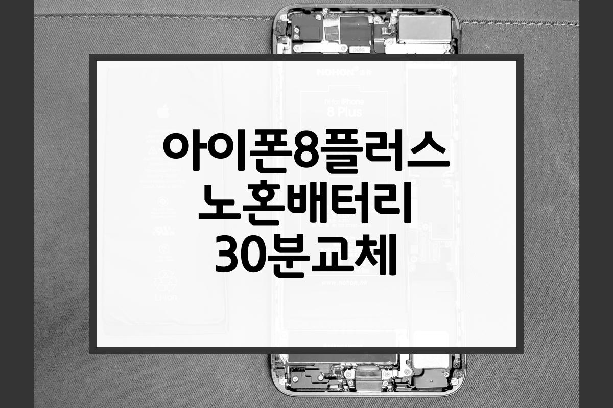 아이폰8플러스 노혼배터리 30분교체