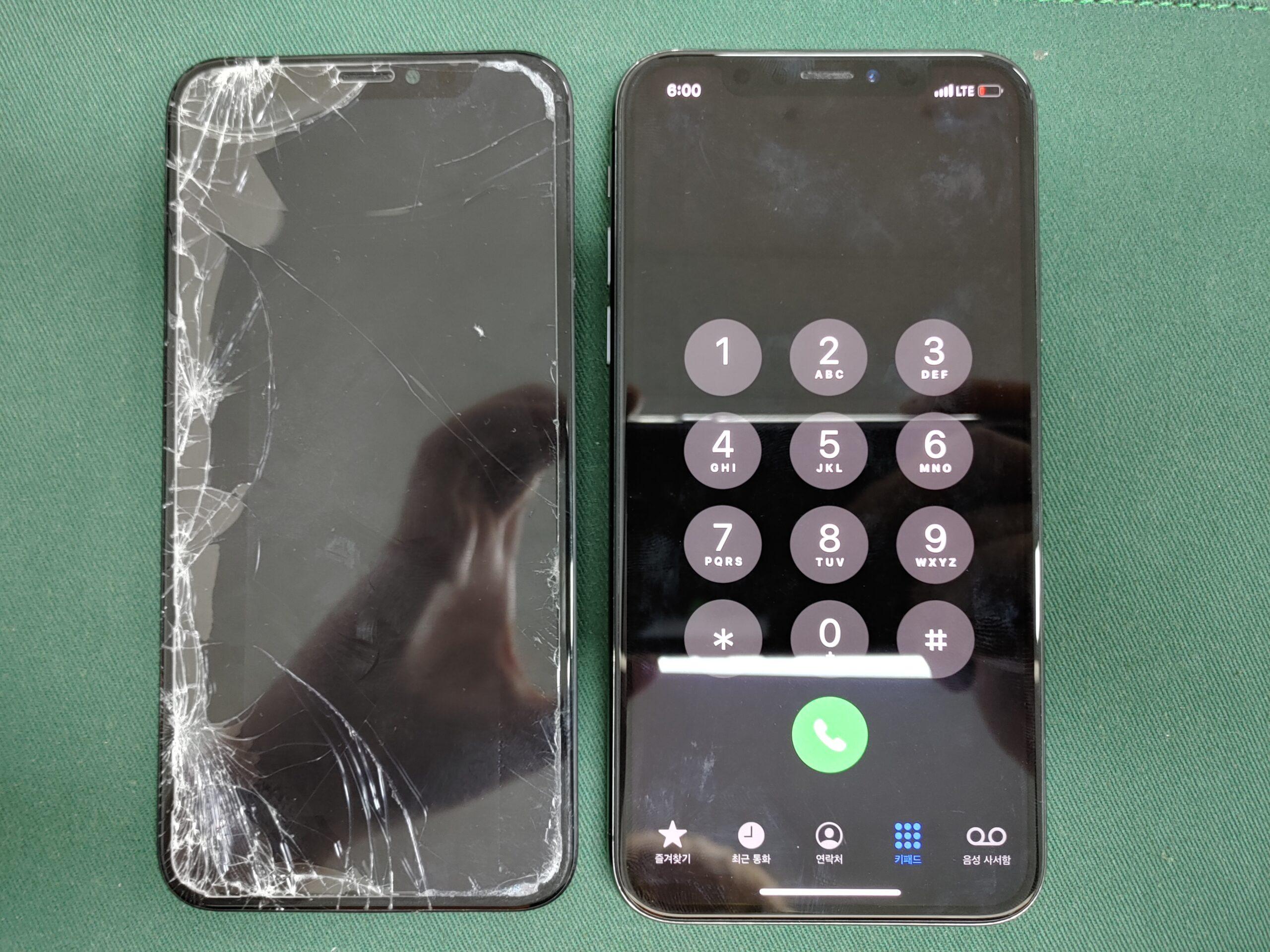 아이폰X 디스플레이 완파 2