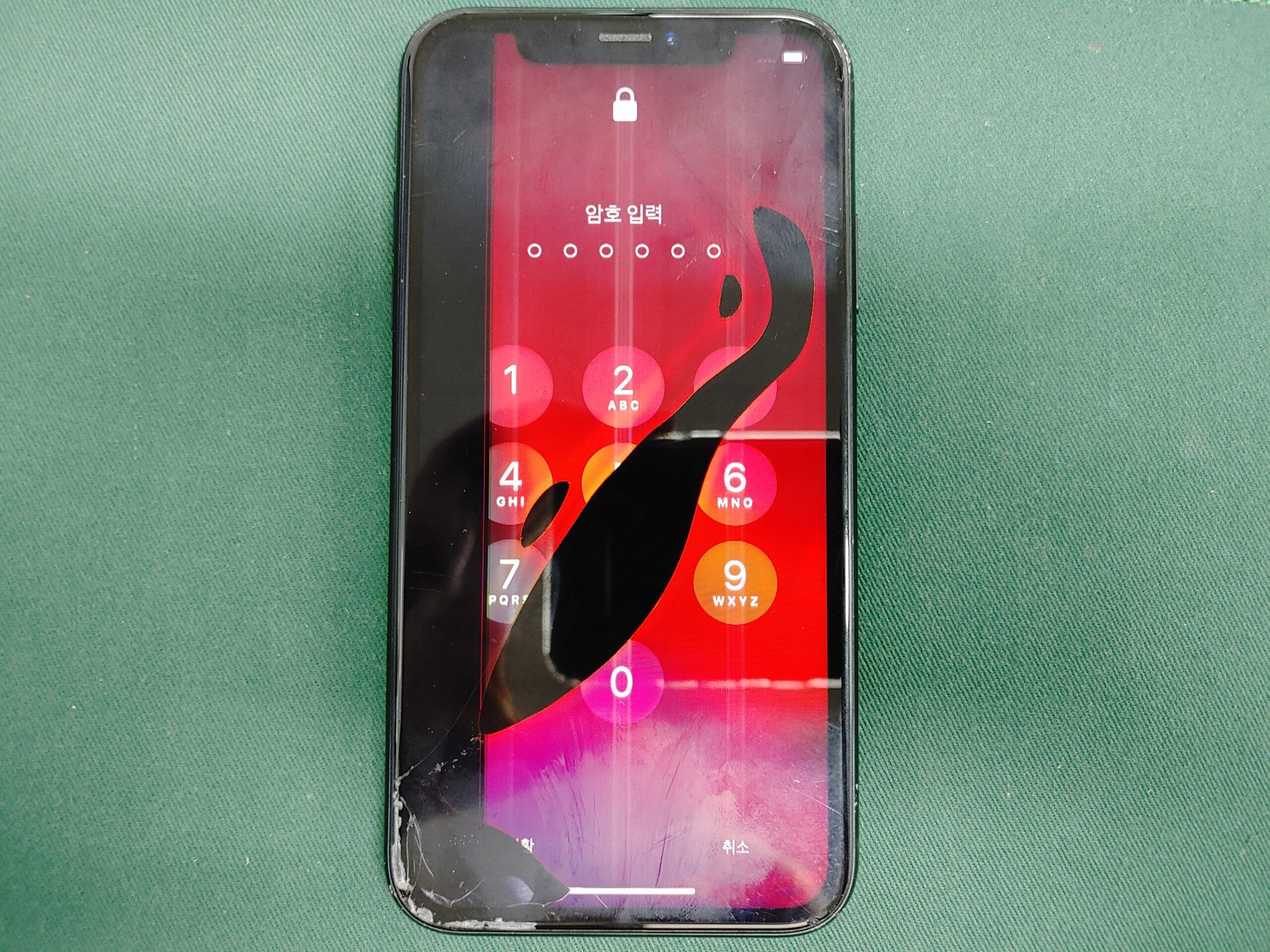 아이폰XR LCD불량액정 1