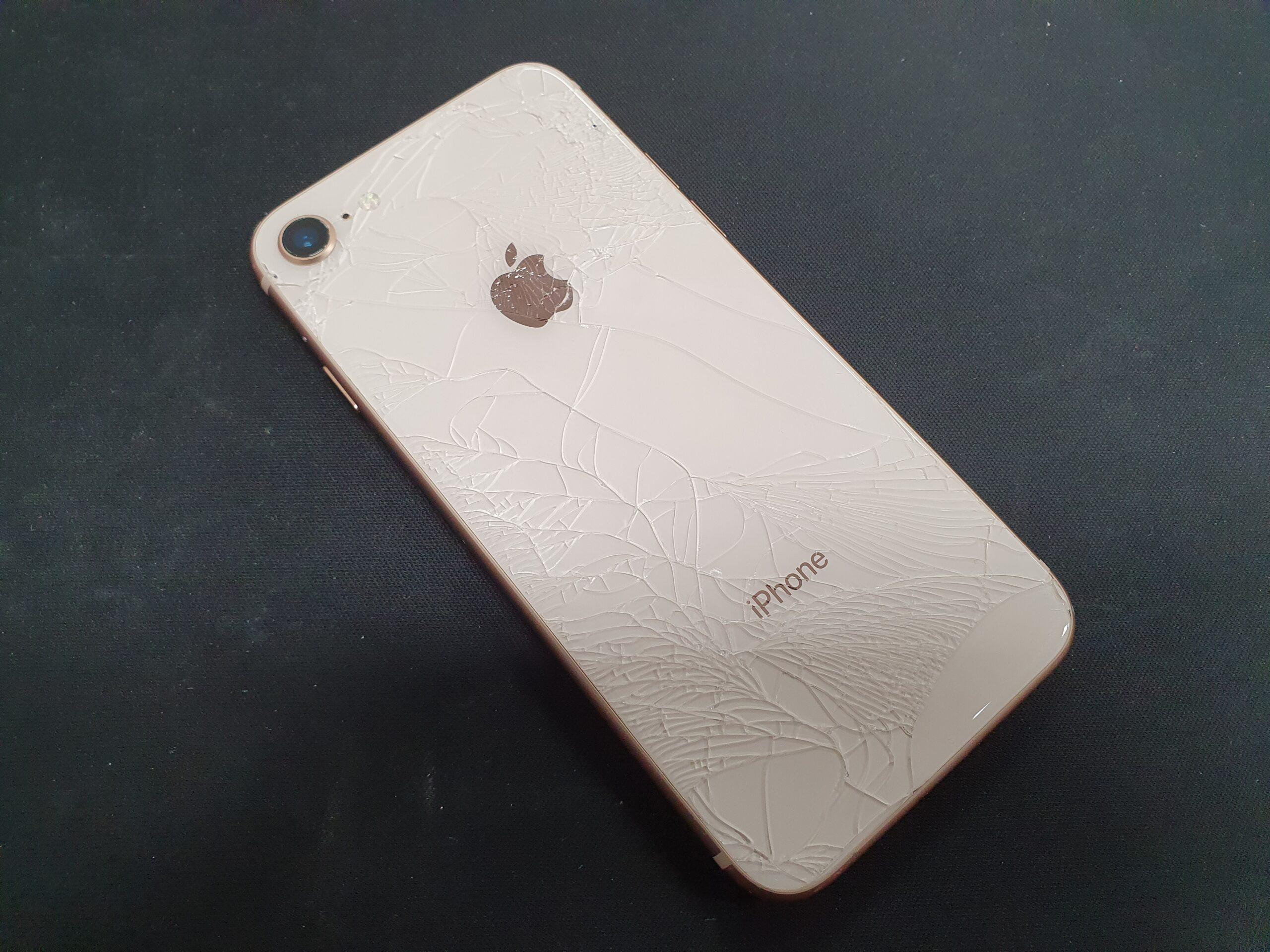 아이폰8 후면 파손